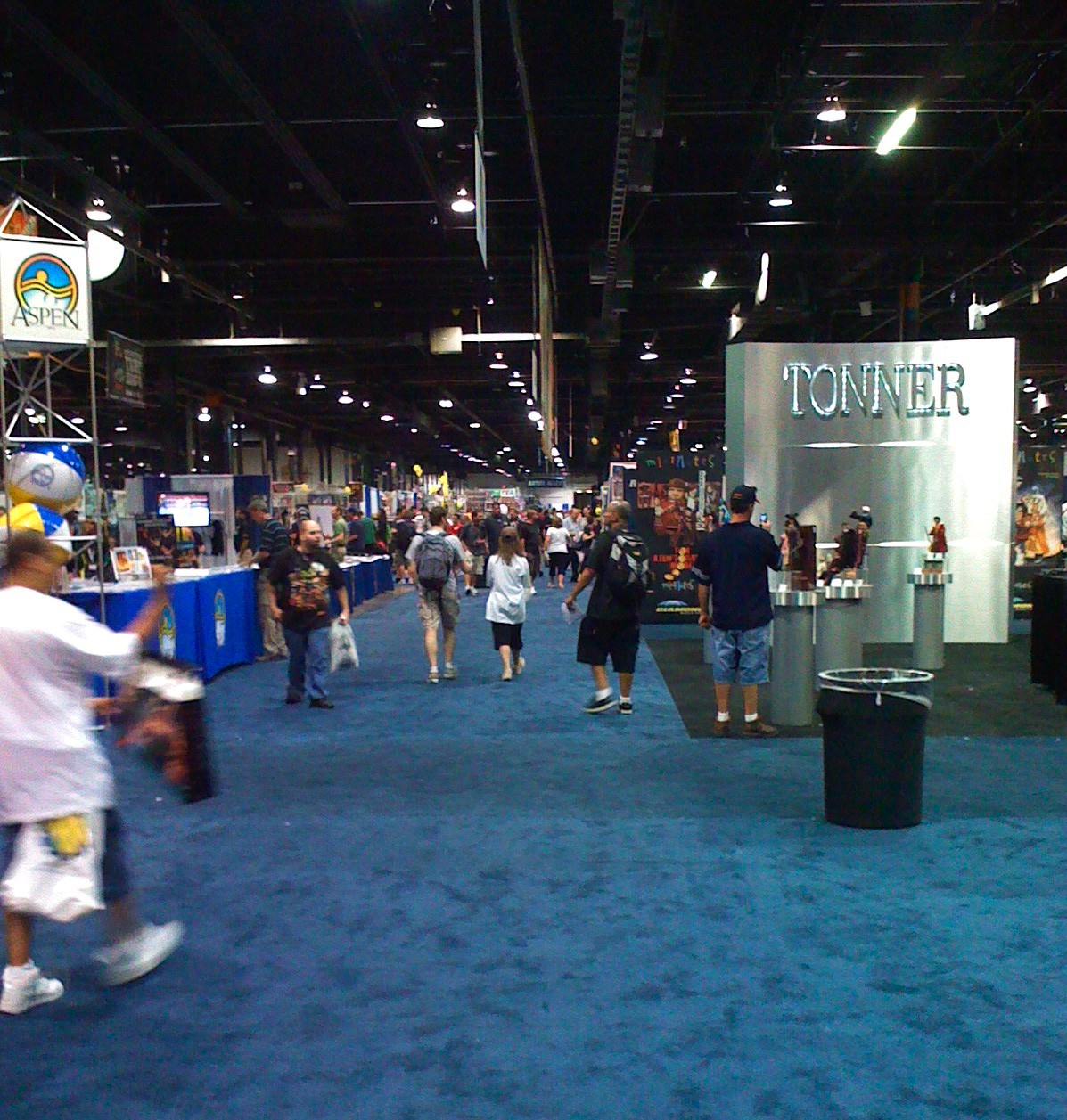 A View Of The Huge Dealer Room, Down A Middle Aisle: