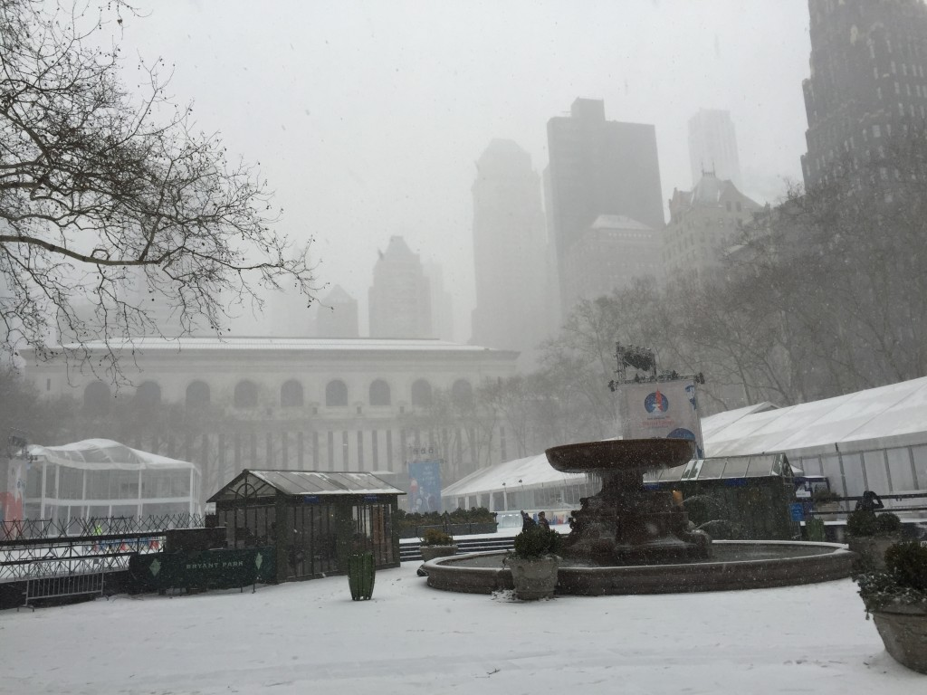 Bryant Park, where ice skating was still going on as I passed