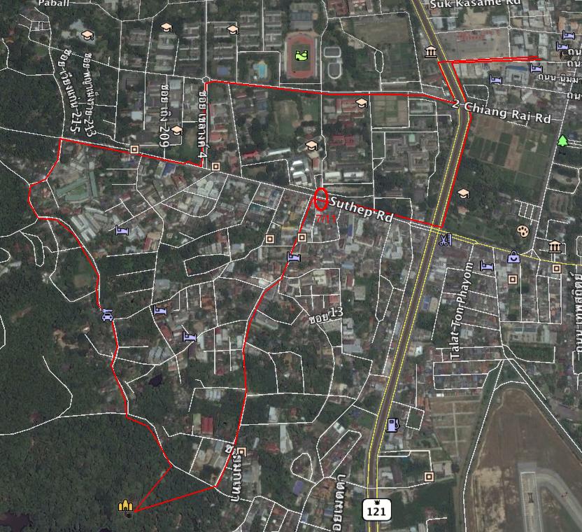 Sunday walk through the spy satellite version of Chiang Mai.
