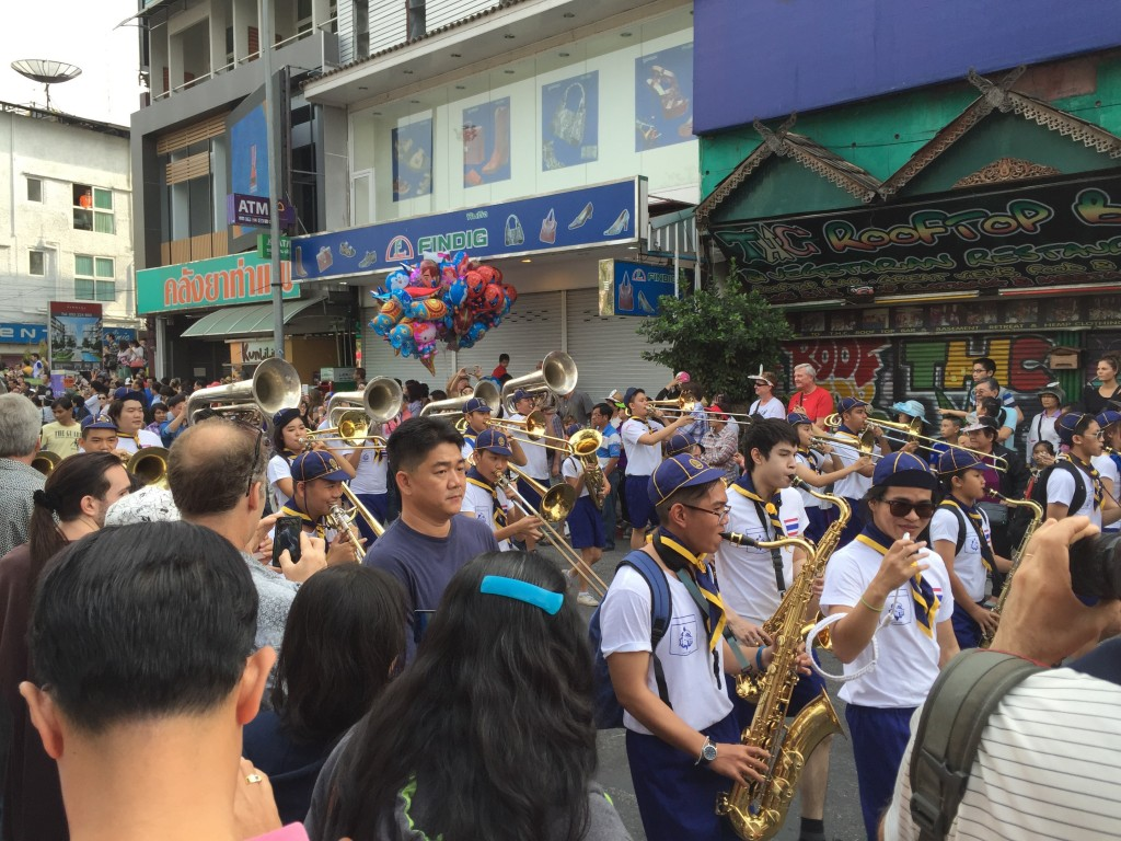 There's nothing more cheery than hearing Mmmmbop played by a high school marching band.