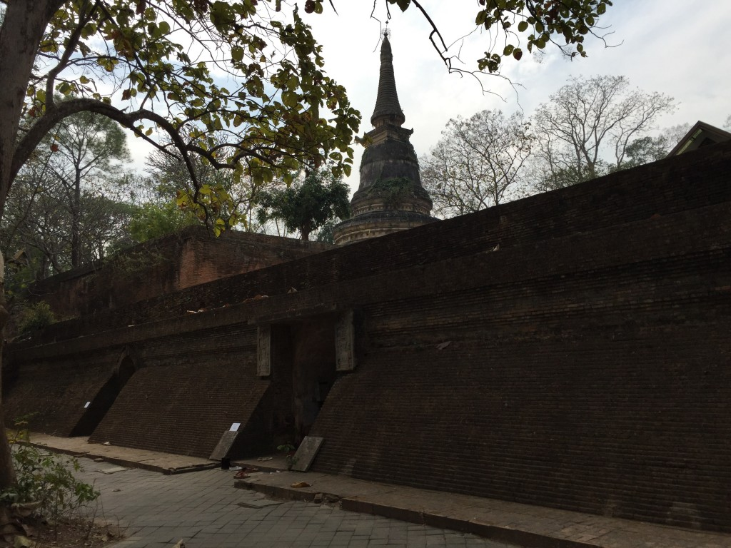 Stupa above, and some short tunnels below.