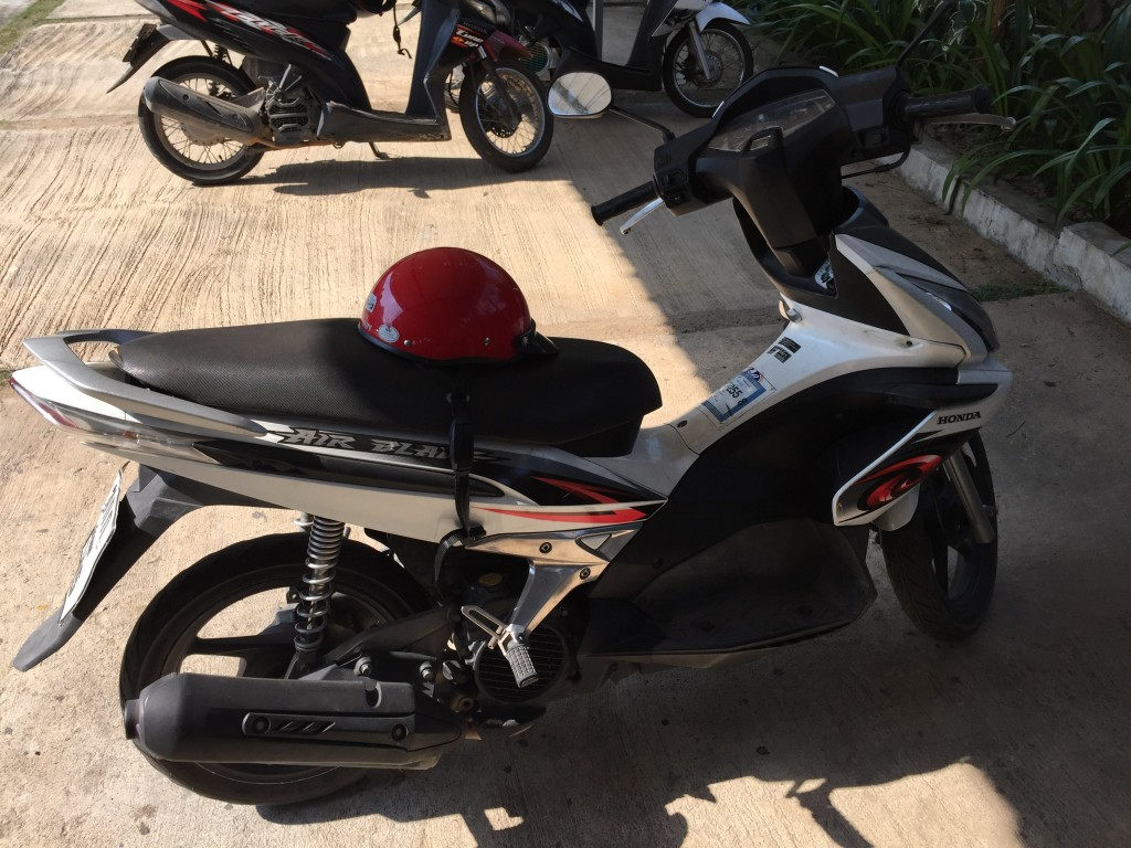 Hint: It's the bright red thing sitting on the bicycle seat.