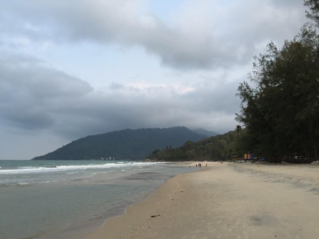 Khanom Beach, looking south.