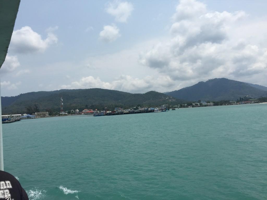 Arriving at Nathon Pier, on Koh Samui's north west coast.
