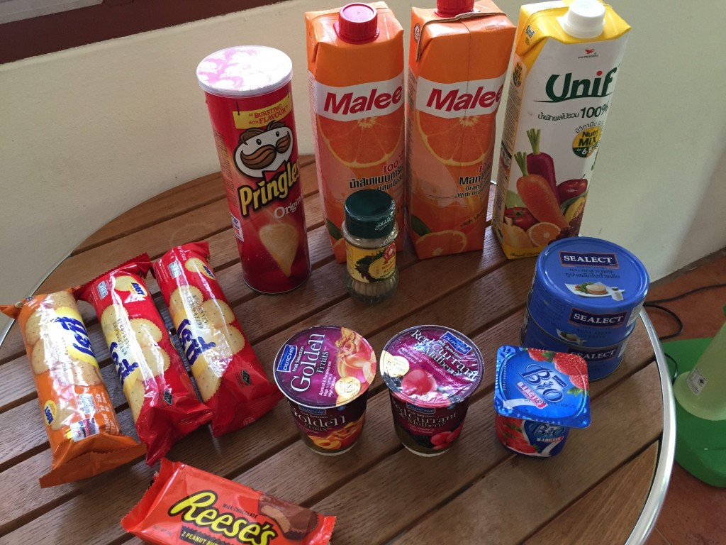 My Tesco shopping trip: 764 baht ($23.57)