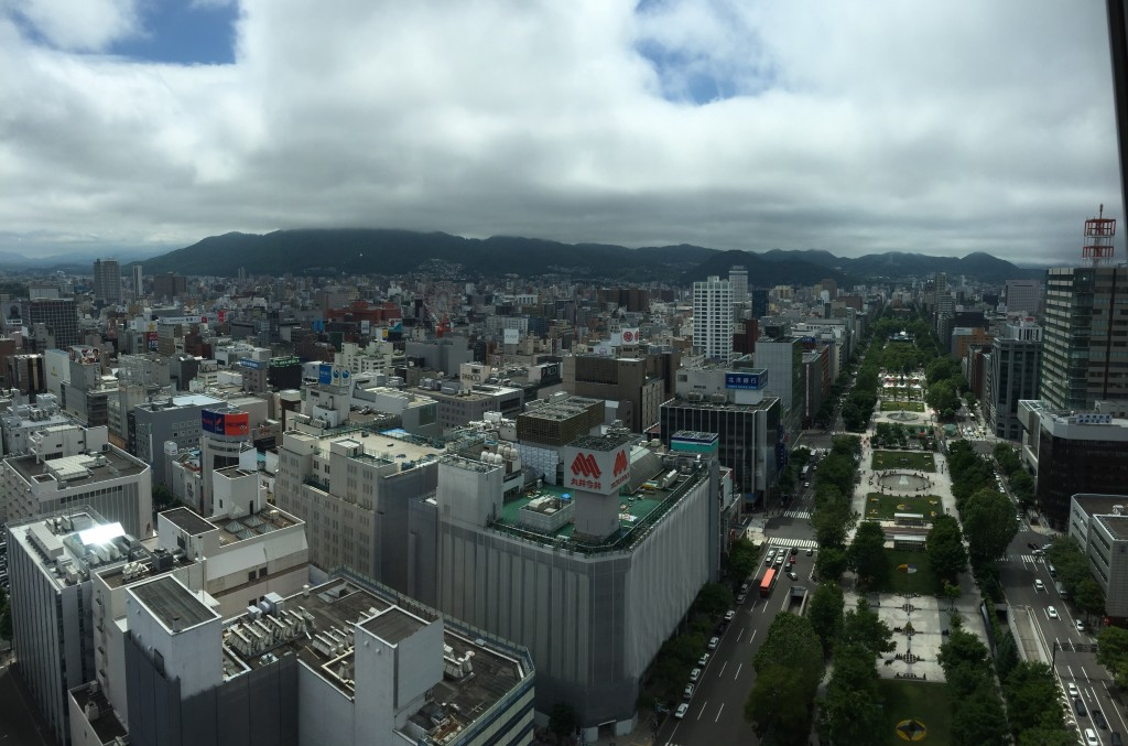 The view West, along Odori Park, which I walked not long after.