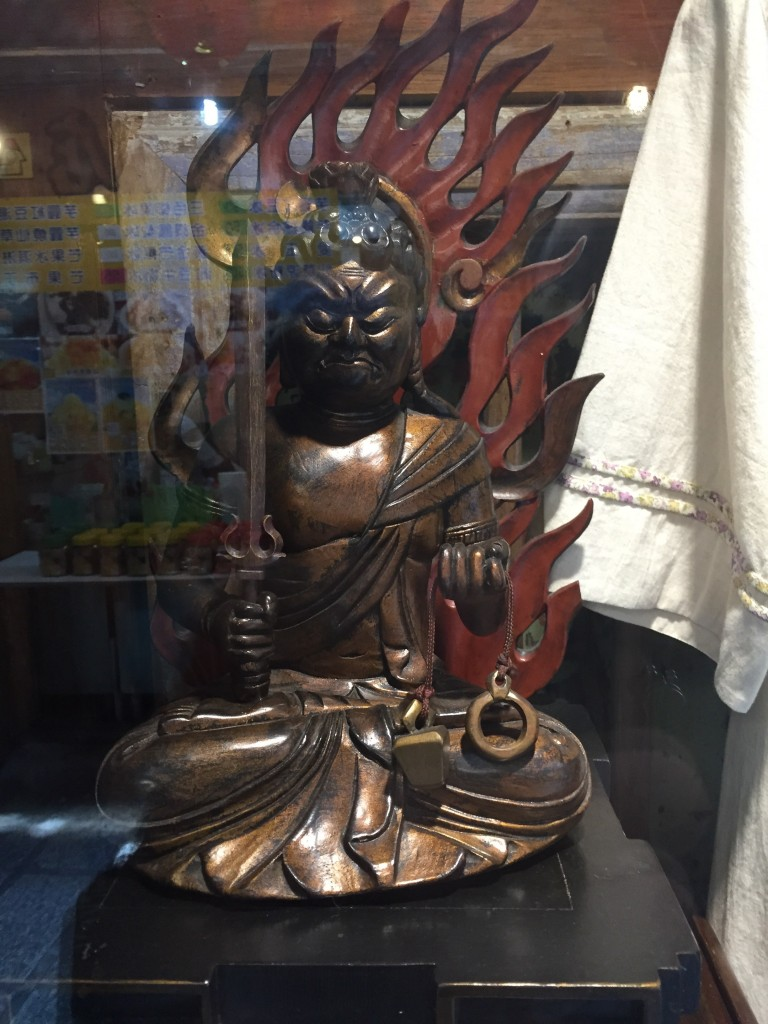 Add this to my increasingly long list of things I would totally have bought if I had a place to put them. The best statue of Japanese Buddhist deity Fudo (my personal favorite) that I've seen outside of a museum. Sigh.
