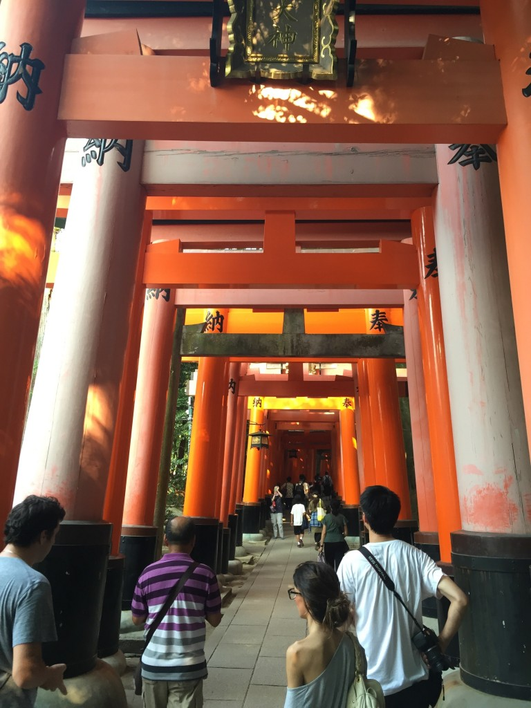 I find it ironic that Torii gates are so *huge*, yet I can't walk freely in a Japanese home without hunching over a little to avoid banging my head on door lintels and ceiling fixtures. Come on, Japanese people, find a happy medium!