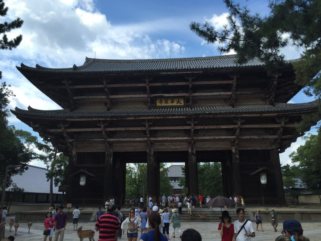 Fine, damn it! Here's the impressive entrance gate to Todaji Temple, but that's the last one I'm doing, I mean it!