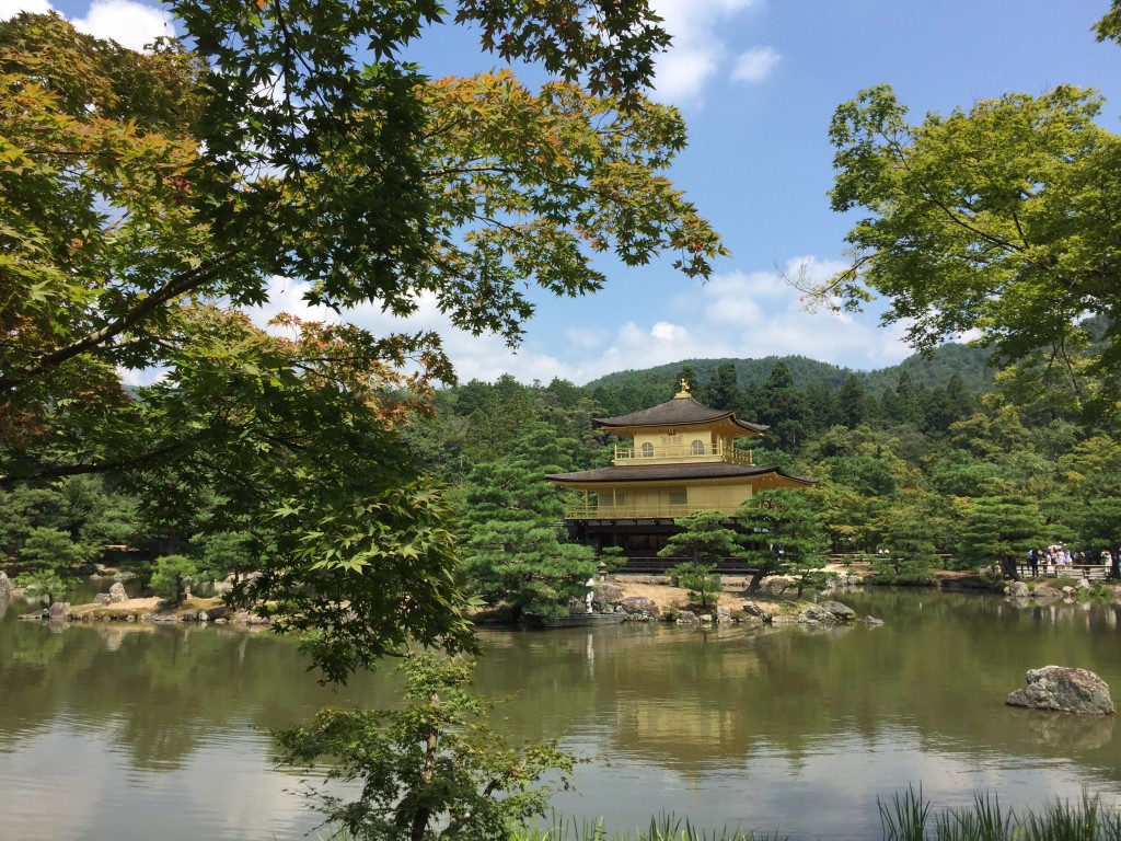 The Golden Pavilion at Kinkaku-ji Temple