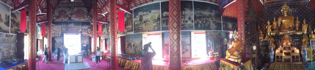 The interior of this temple, though, was pretty cool, with scenes from the Buddha's life painted on the walls.