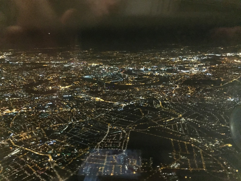 London looks impressively large in the morning before sunrise. (And probably at other times of the day as well, but I can't personally testify to that.)