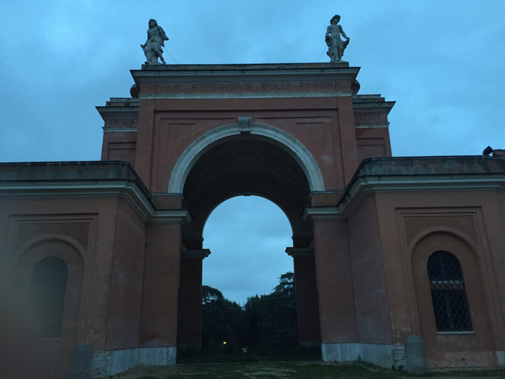 "One of the nice things about living in an old, long-civilized city, is that you find monuments and cool structures everywhere you turn. This arch was near one end of the park, and seemed to serve no function other than to say, ""Wow, I'm impressive!"" Yes, you are."