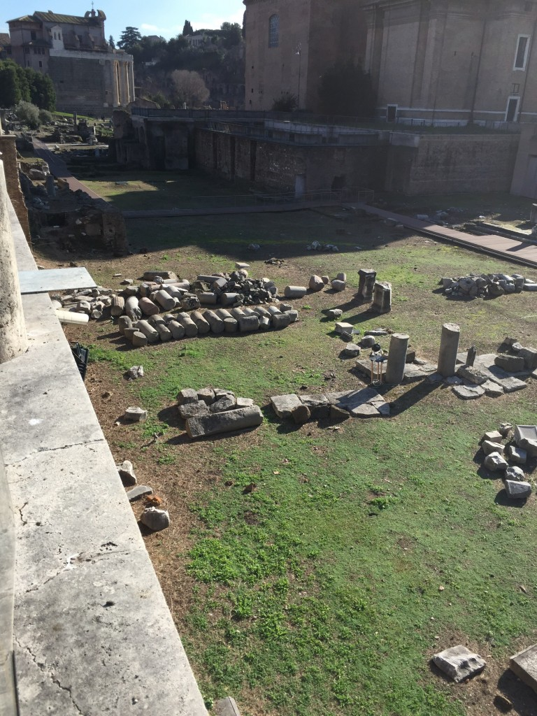 The ancient Romans were so orderly, even their ruins fall apart into neat lines.