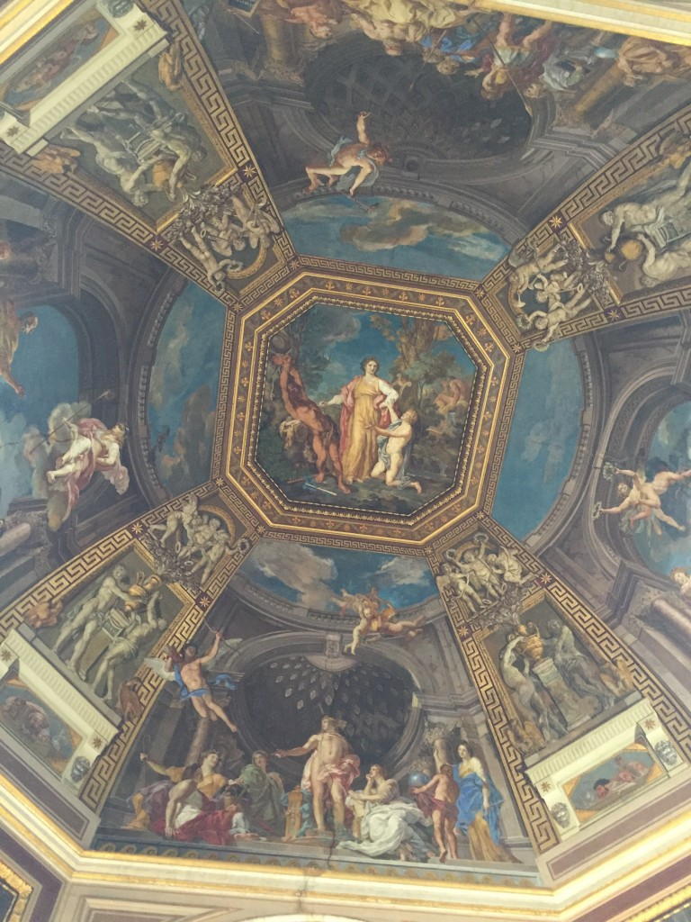 The ceiling of one of the rooms in Lucretia Borgia's apartments. (Gods, what must the rent be like, to have a place in the Vatican. One shudders to think.)