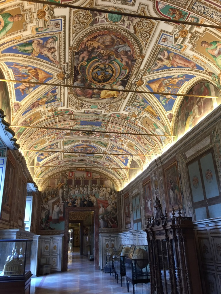 Nothing special, just a random Vatican hallway. Not to keep banging this drum, but this rather supports my contention that the Sistine Chapel is not 100% all-that-and-a-bag-of-chips. (Though not as much as the Borghese Gallery supports it. But I'll cover the BG in the next blog entry.)