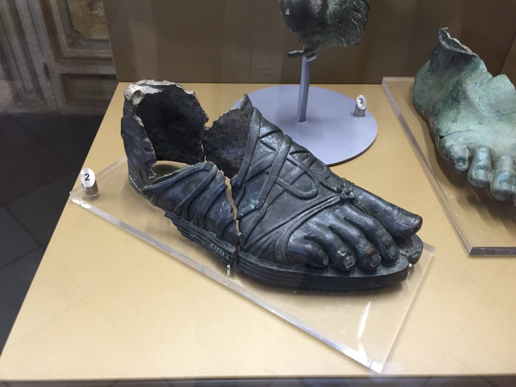 Ancient Roman toe shoes, even more form-fitting than the ones we use today. Those Romans marched across an Empire, they knew their orthotics.