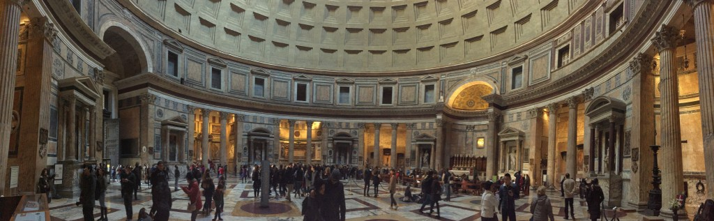This panorama makes the place look larger than it is. But it's not small.