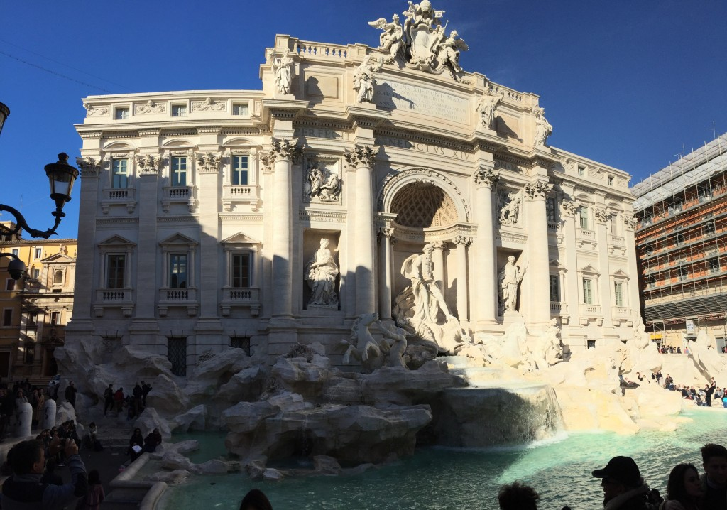The Trevi Fountain. (Recently remodeled, according to Max.) This is one of those fountains that you people toss coins into, but apparently you have to do it a certain way, so I'm glad I didn't try it. Might have ended up with a 12-inch pianist.