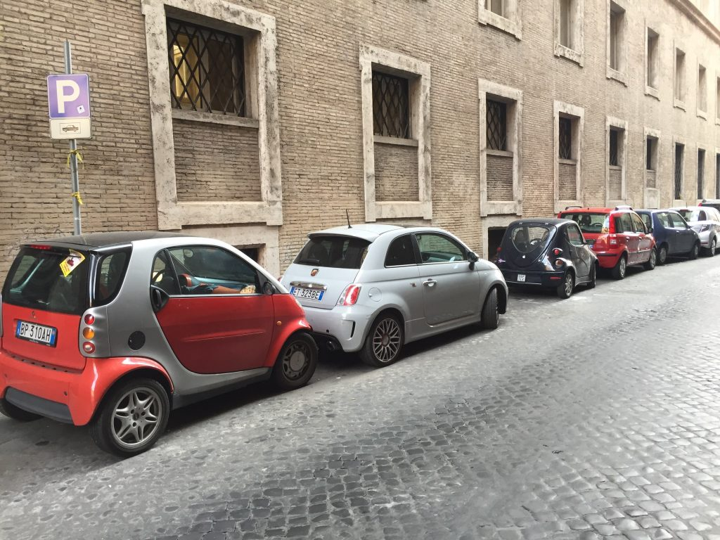 We've always had this stereotype of Italians driving tiny cars. It is completely accurate. I have *never* seen as many SmartCars as I did in Rome, and they were not the smallest on the road.