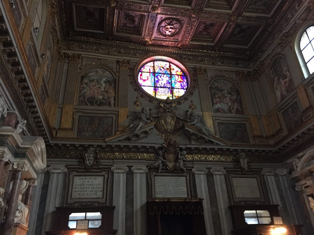 I think this was a large alcove at the end on the left -- basically the left arm of the cross in the church's layout. (I'm going to call it the 'port transept', because I can.)