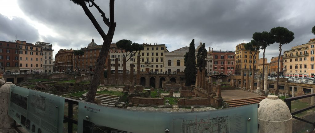 It's kind of surreal to accidentally run across where Caesar was killed. It's just the kind of thing that makes you glad you decided to leave the house.
