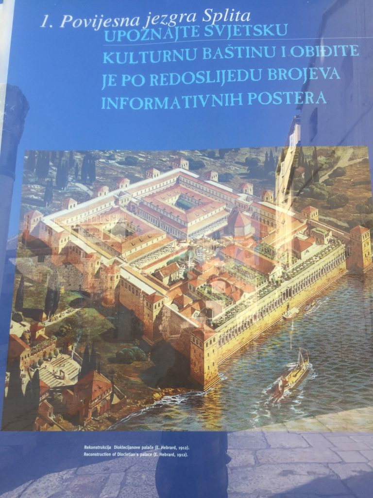 What the palace used to look like. The Riva is where the water used to be (and probably will be again).