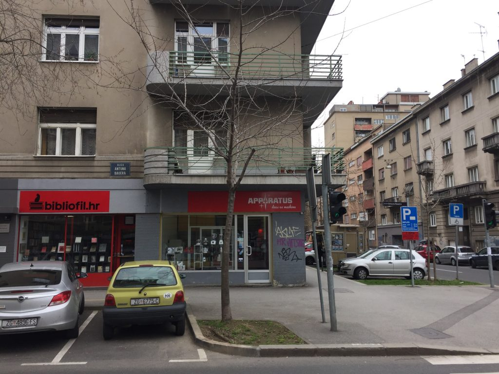 The shop where I bought my coffee grinder, in case you're wondering what an average Zagreb street looks like (pre-Spring).
