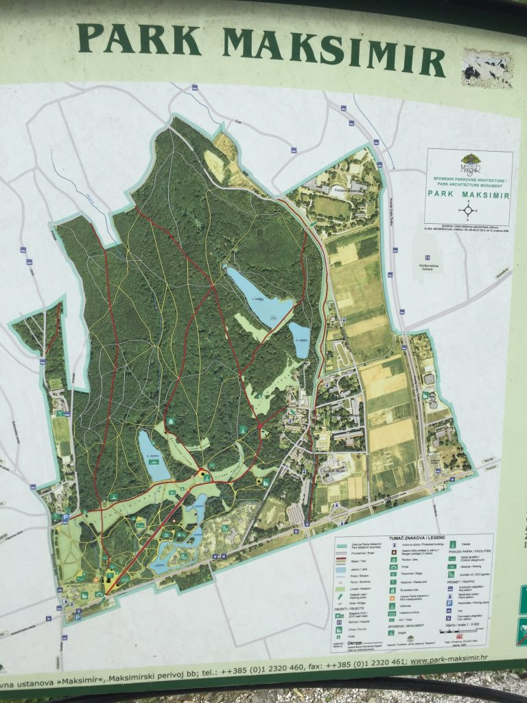 The park map. I'd typically enter at the top of the open glade on the lower left, and then meander for a couple of hours.