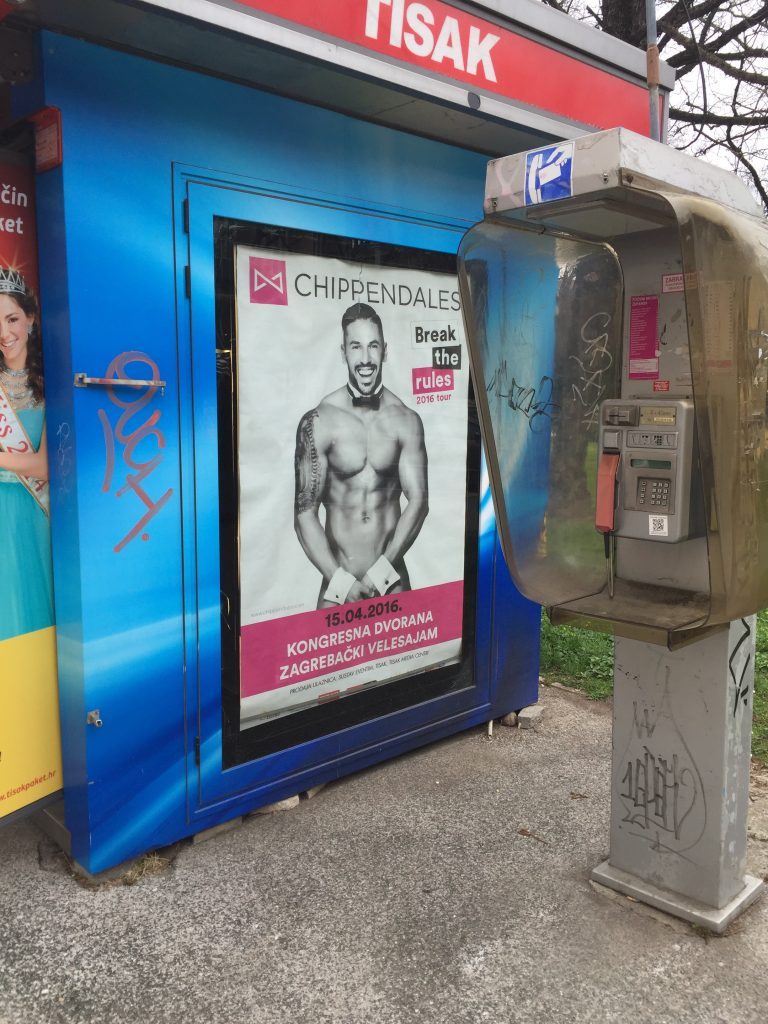 Apparently, the Chippendales tour stopped in Zagreb. Sadly, the allergies drove the event right out of my recollection.