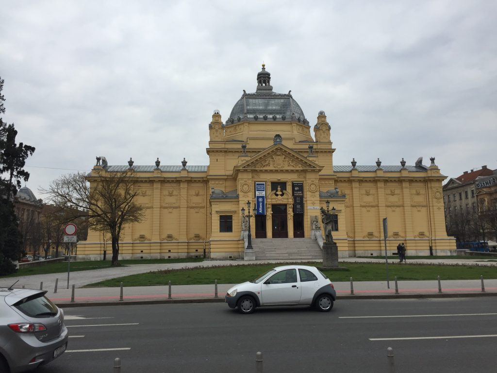 The Zagreb Art Pavilion. I was actually doing one of my tour app walks, and wanted to hit all the stops, so I didn't go in at the time. Then, Spring. Then I went other places instead. I'm sure it was lovely.