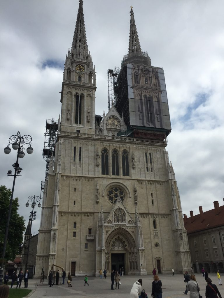 Those twin spires above were part of a very respectable cathredral. (Croatia is a predominantly Catholic country, as its proximity to Italy might suggest.)