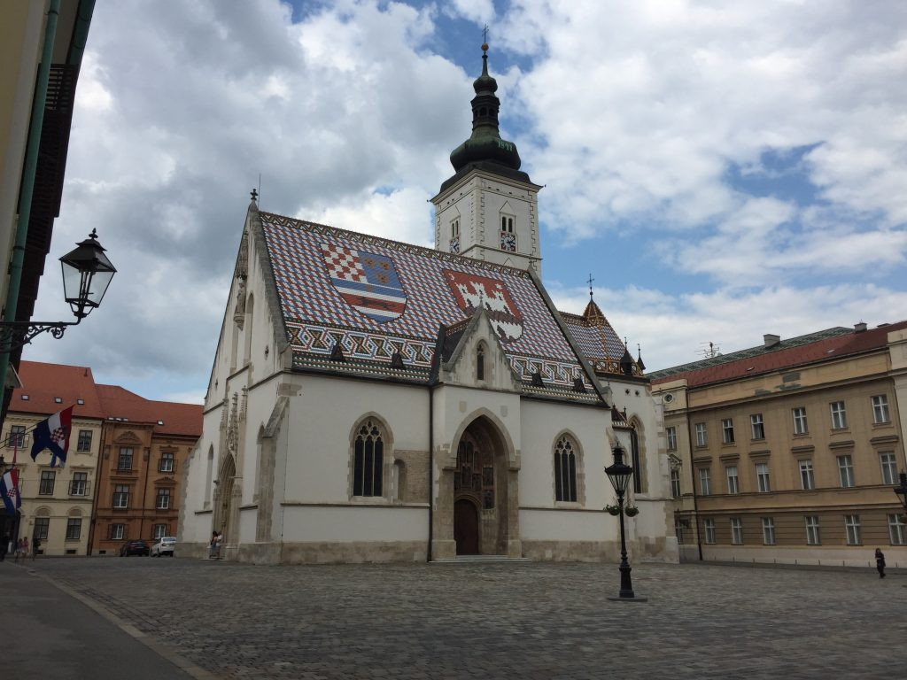 This little church, in a government square just north of the Museum of Broken Relationships, is a bit of an iconic structure in Zagreb. The doors were closed when I was there, but it's an older, smallish building, so I suspect I wasn't missing much.