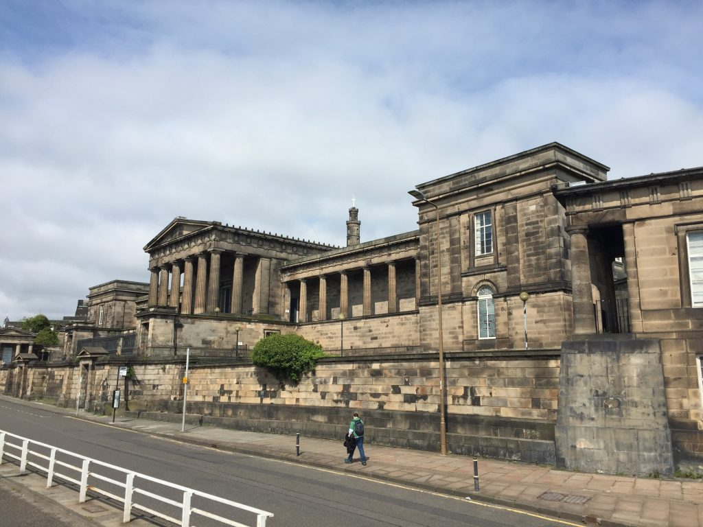 The Royal High School for Boys, on Calton Hill. Sadly, they said it wasn't currently in operation at that site. I can't imagine the new place looks that grand.