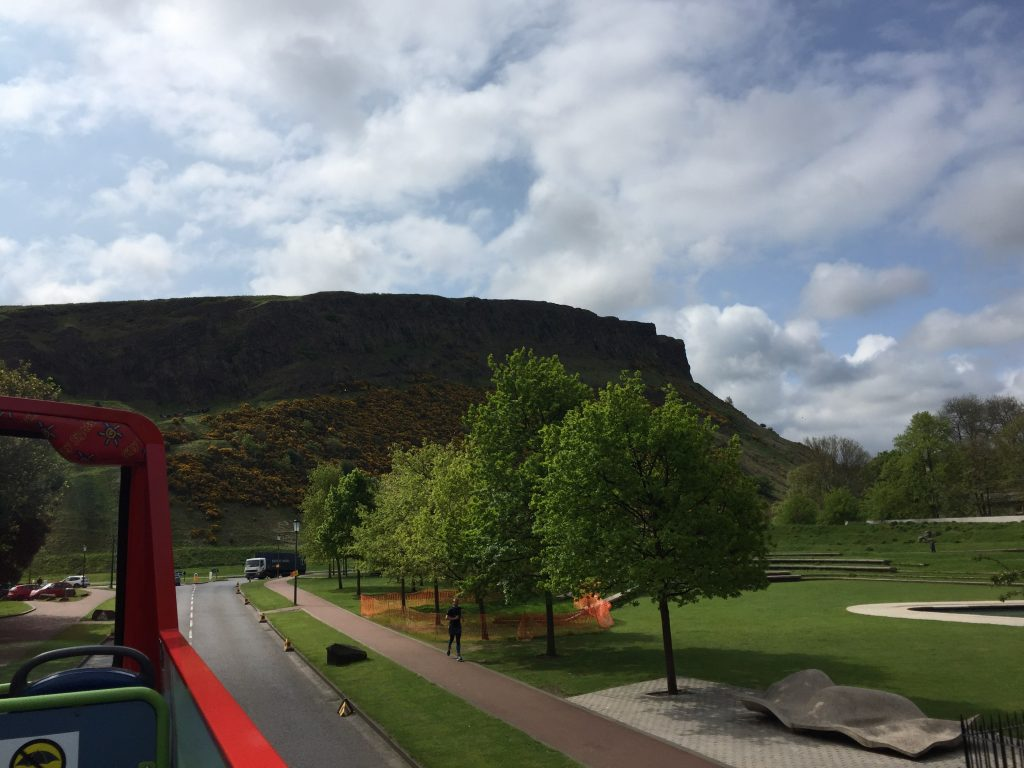 The north west corner of Holyrood Park, near the Dynamic Earth.