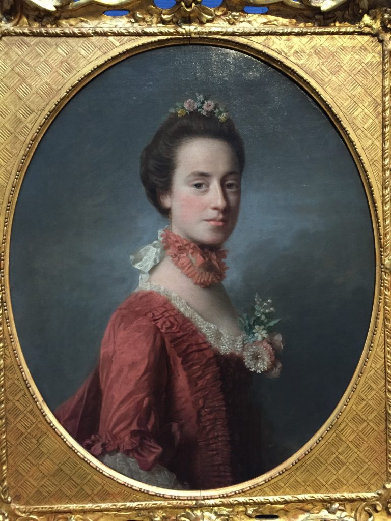 """You don't often see a portrait subject with so much evident character. I'd really like to have known this person. The plaque said she was """"Mary Degg, Lady Robert Manners (1737-1829)"""" and that, """"The daughter of William Degg, a British army officer, Mary was orphaned in very early childhood. But she went on to marry Lord Robert Manners, son of the 2nd Duke of Rutland, in 1756."""""""