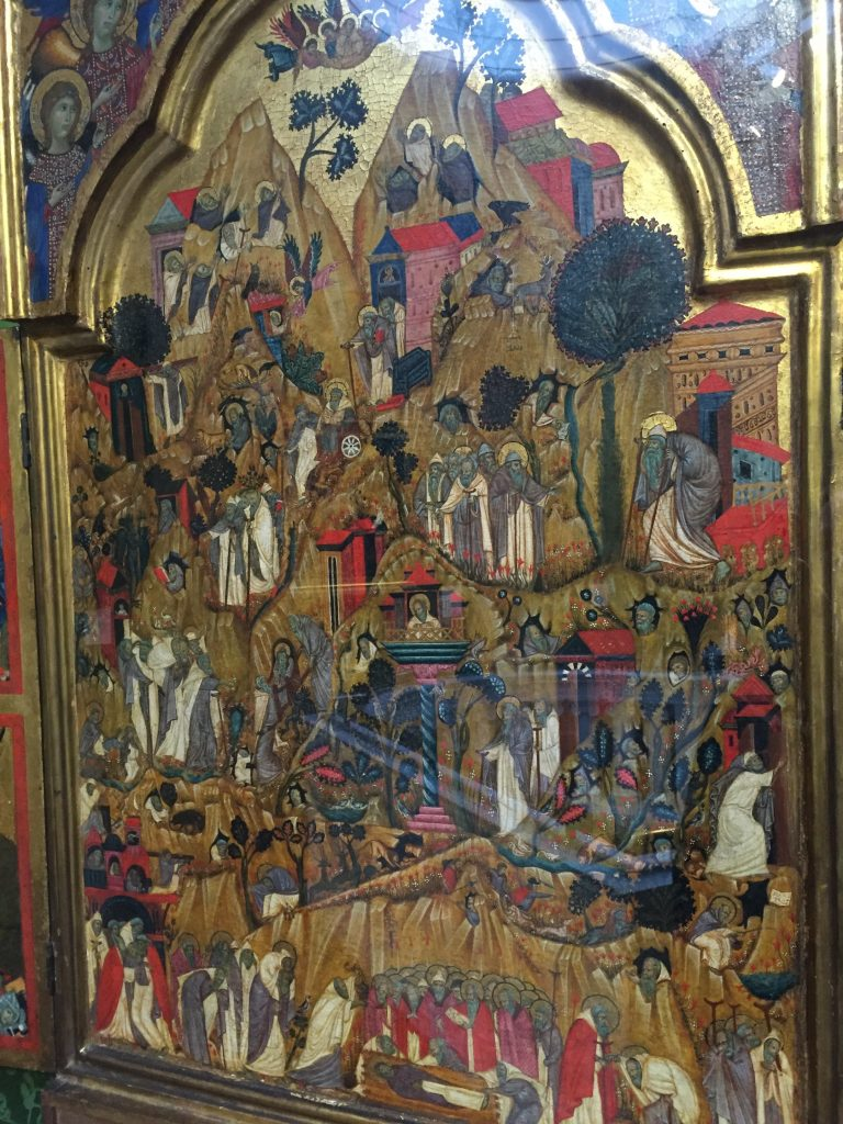 This was a depiction of a city of hermits (with St Ephraim in the Theban Desert in Egypt). Wrap your head around that concept, eh?