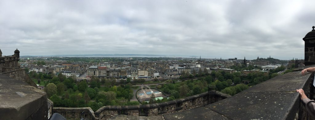Looking north to the Firth of Forth, across the city fair. My Airbnb on the right must be, though I could not tell you where.