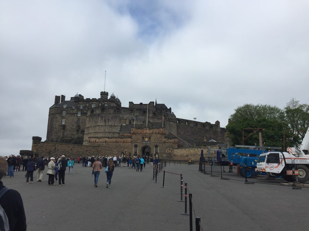 Edinburgh Castle, a fortress built on a volcanic plug, where human settlement is known dating back at least to the 2nd century AD and likely farther.