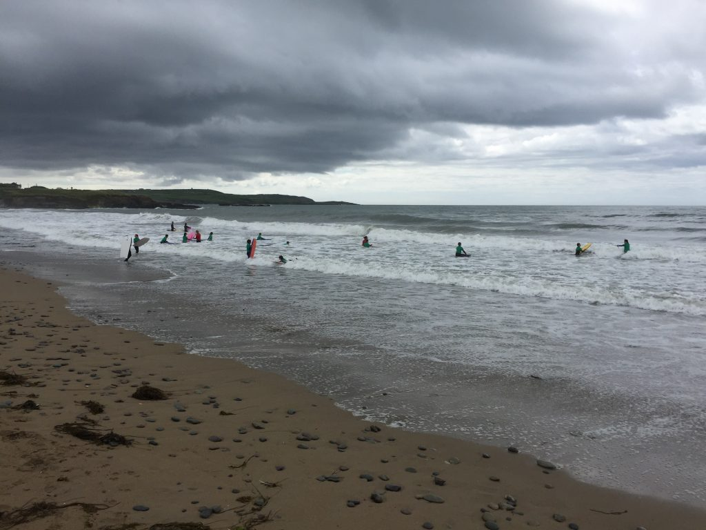 There was a surfing class held daily, at the beach north of me with the Pokemon stops/gym. This is about as powerful as I ever saw the surf there.