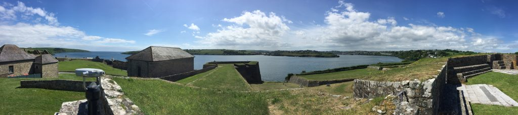 Looking west; you can see the English Channel inlet to the left, and Kinsale in the distance on the right, past the peninsula that holds the Fort James ruin.