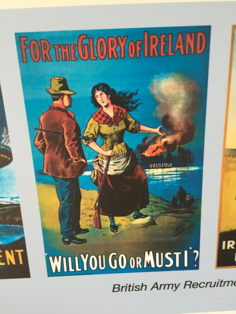 Military recruiters: shaming Irish men into signing up for battle, since 1914.