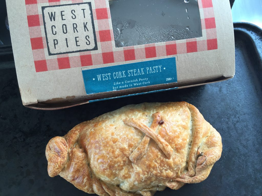 "Just in case you ever read about pasties in Harry Potter and wondered what they were, this is one. Basically, a hand-held meat pie. ""West Cork Steak Pasty: Like a Cornish pasty, but made in West Cork."" Just in case that concept was confusing you. ""Wait, it says it's a pasty, but I only know Cornish pasties. How can this be?"""